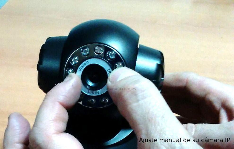 camara ip muestra como ajustar enfoque manualmente