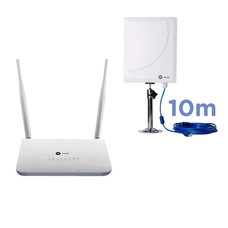 Wonect R7 Router repetidor USB Antena WiFI W6 10m