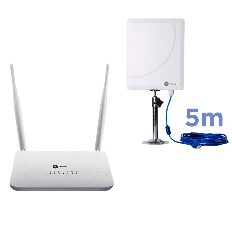 Wonect R7 Router repetidor USB Antena WiFI W6 5m