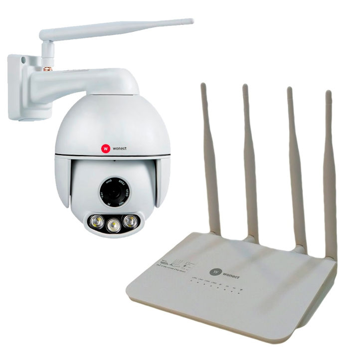 Camara exterior K54 IP WiFi Con Router 4G Sonido Metal Vision nocturna remota