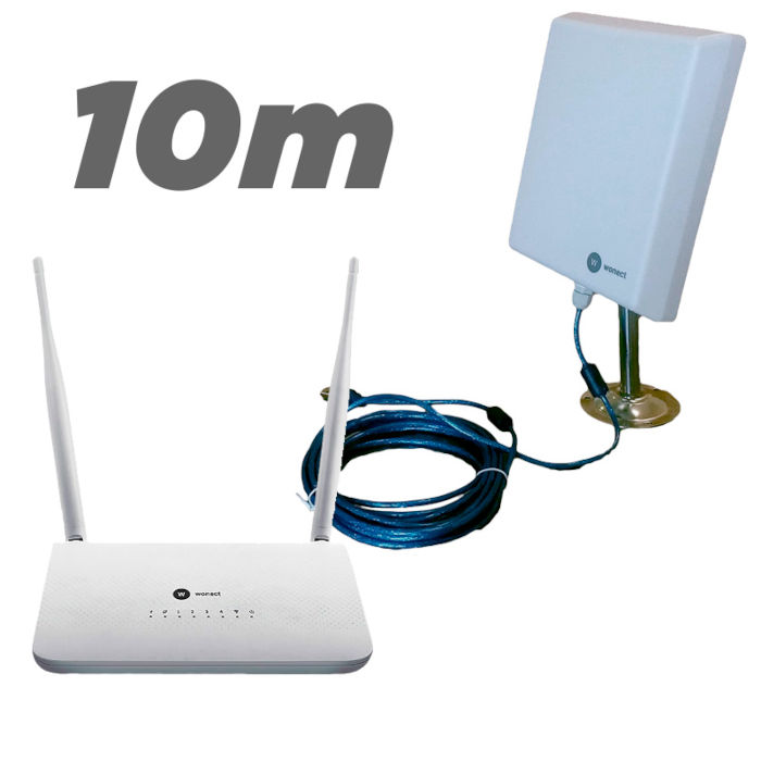 Kit Router Wonect R7 repetidor USB Antena WiFI n4000a 10 metros