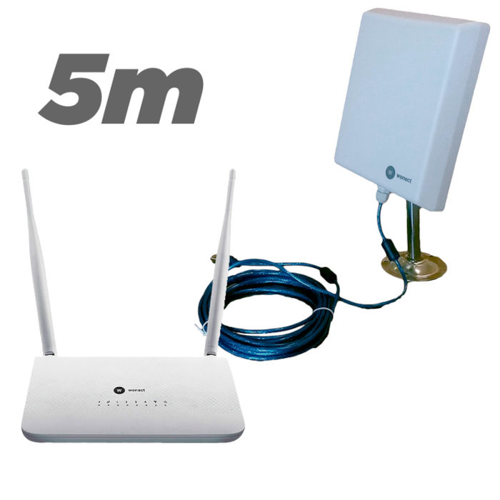 Kit Router Wonect R7 repetidor USB Antena WiFI n4000a 5 metros
