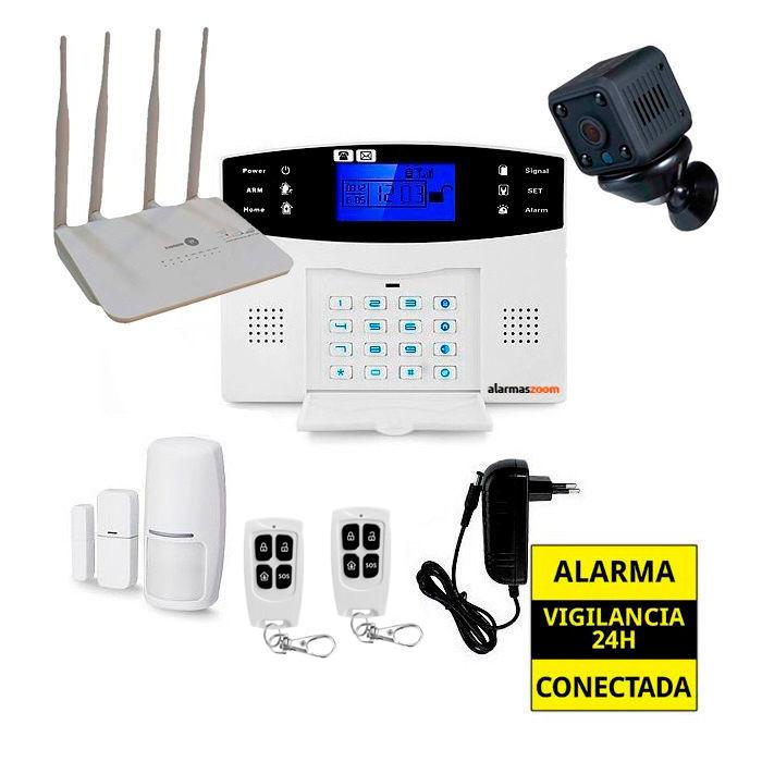 Kit de alarma anti okupas sin cuotas camara seguridad Router 4G