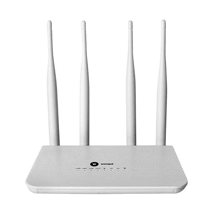 Wonect LT15 Router 4G LTE WiFi Ranura tarjeta SIM Conector Antena 4G Exterior SMA Desmontable