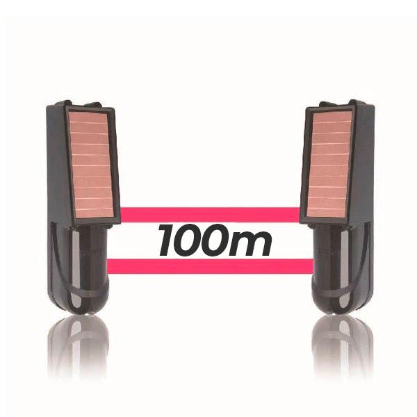 Alarma perimetral 100M foto electrica Baterias Placa Solar Baterias SIB100