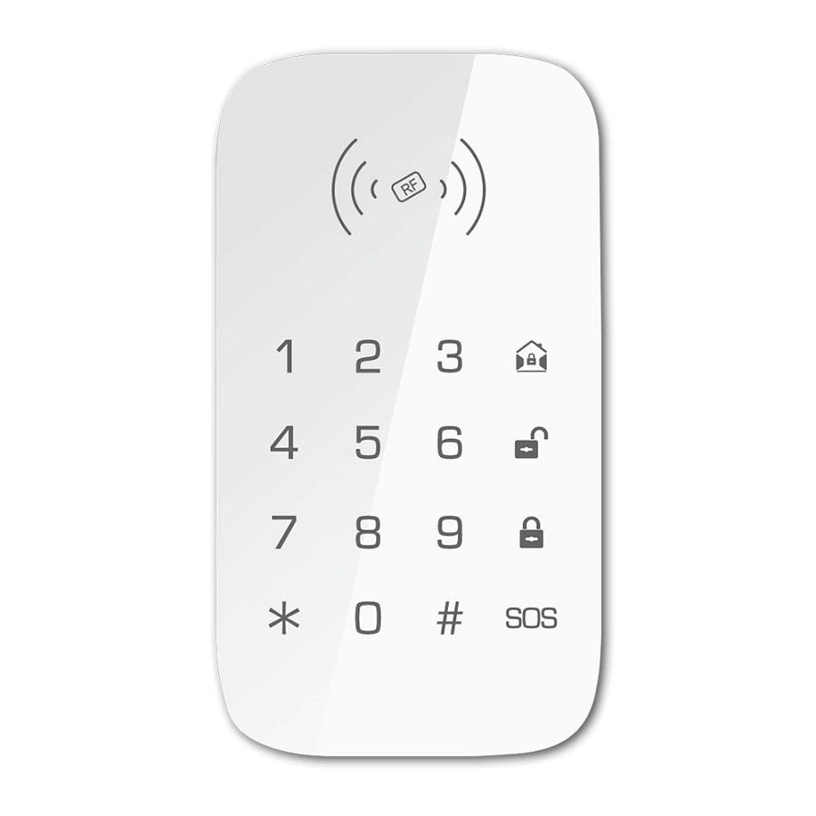 Teclado inalambrico RFID para centrales de alarma