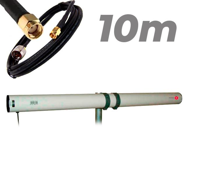 Antena WiFi Yagi Exterior 21dBi Pigtail RP SMA 10 metros Largo alcance