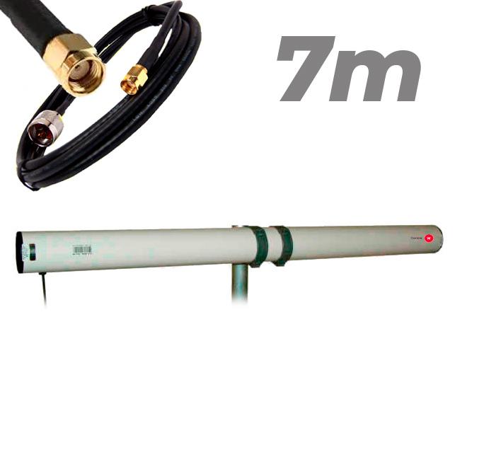 Antena WiFi Yagi Exterior 21dBi Pigtail RP SMA 7 metros Largo alcance