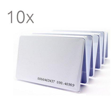 10 Tarjetas proximidad 125khz control de accesos