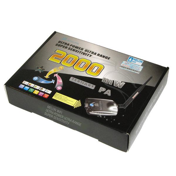 Melon USB 2000Mw Antena WiFi Realtek 8187L 5dBi