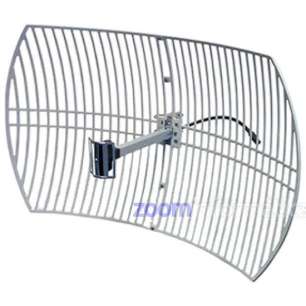 ALFA AGA 2424T Antena WiFi Parabolica Exterior Rejilla 24dBi Conector N