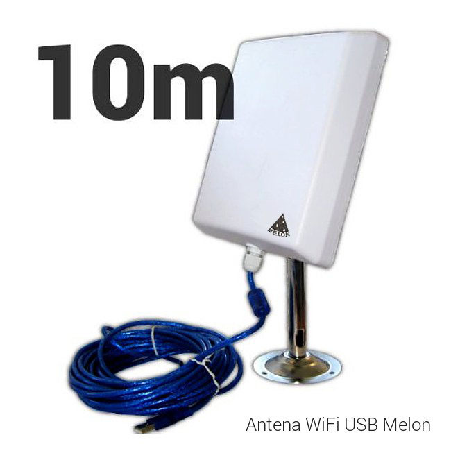 Melon N4000 10M N4000 10M MELON ANTENA MELON EXTERIOR PANEL PLANAR 36DBI 10m EXTERNA USB interno WF-N4000 2000MW 2w
