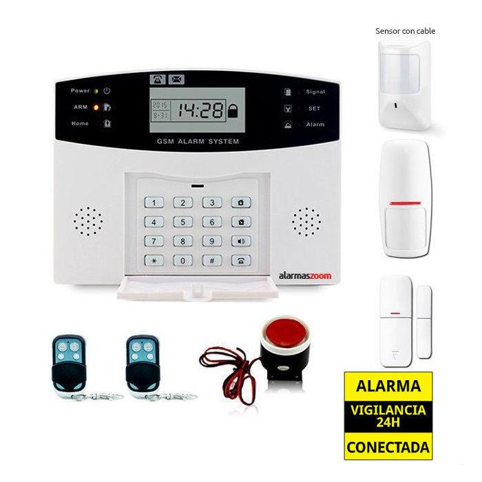 Kit alarma casa Detector de movimiento cableado AZ028 12