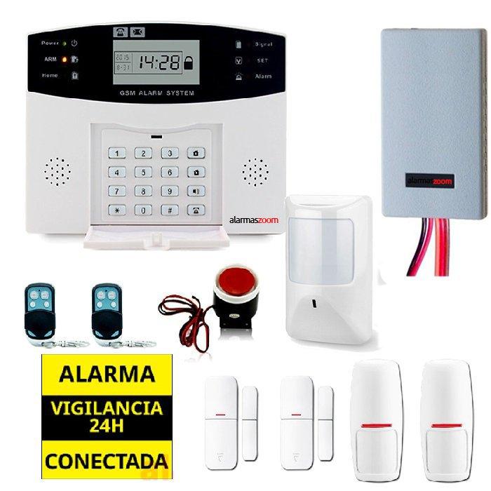 Kit alarma casa con detector inhibidores AZ028 9