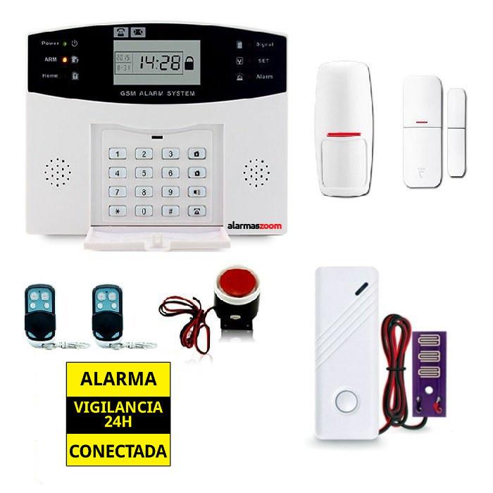Kit alarma casa con sensor agua inundacion AZ028 14
