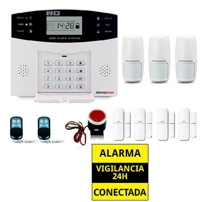 Kit alarma casa Detectores de movimiento y Apertura puertas AZ028 3
