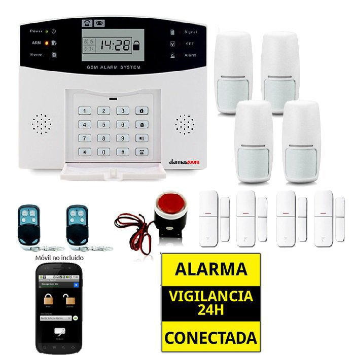 Kit alarma casa 4 Sensores de movimiento AZ028 11
