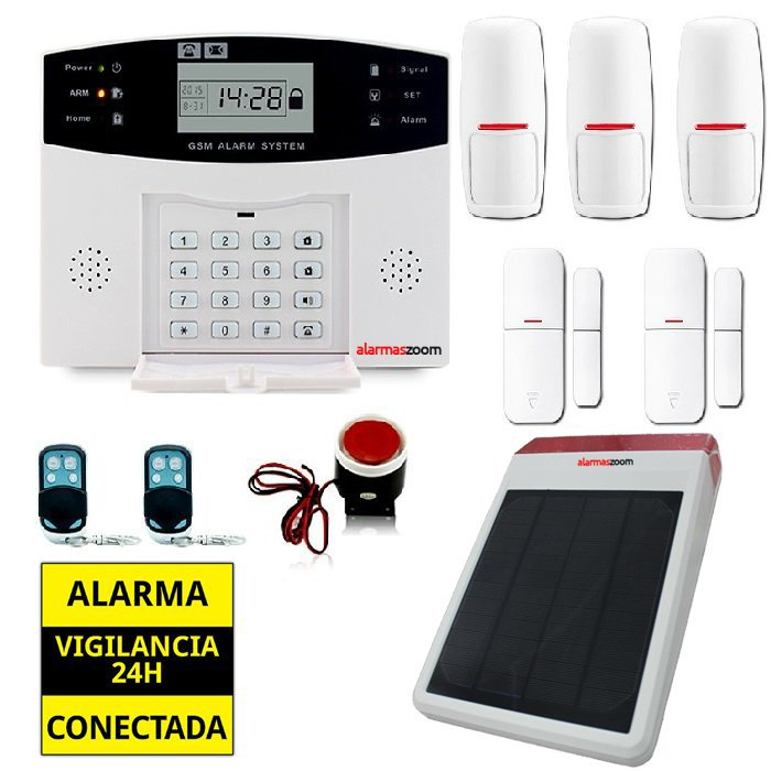 Kit alarma casa con sirena solar AZ028 18