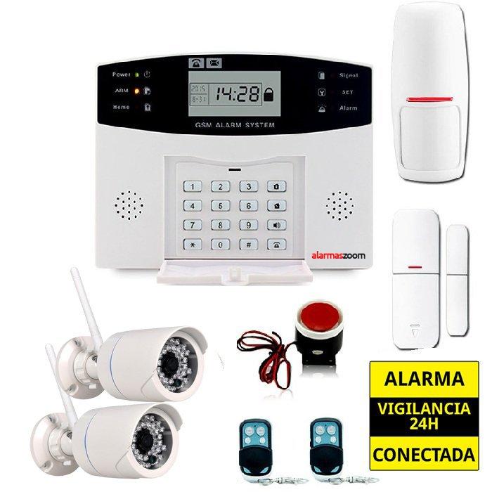 Kit alarma casa con 2 Camaras de seguridad exterior WiFi AZ028 8