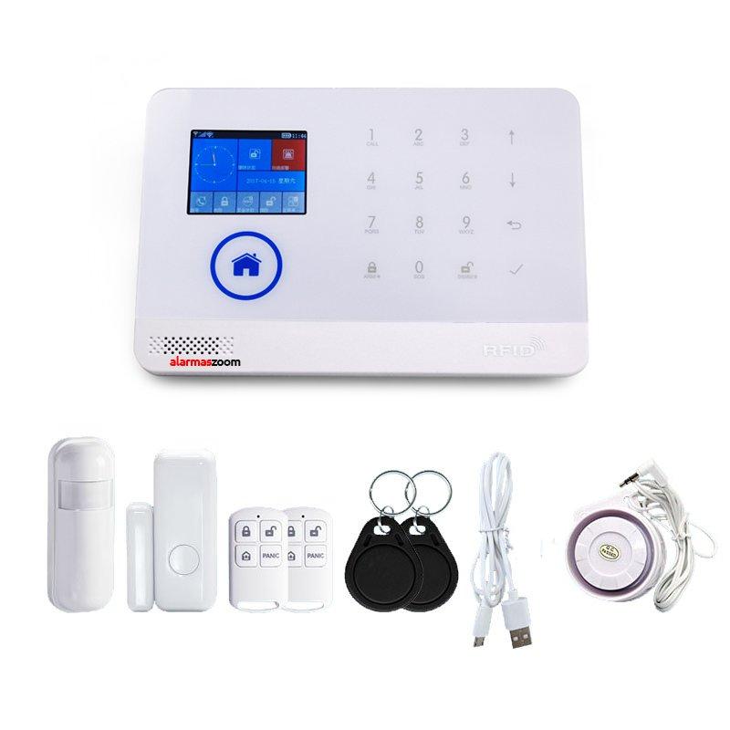Alarma para casas WiFi GSM compatible camara IP lector RFID Blanca Sin Cuotas AZ034