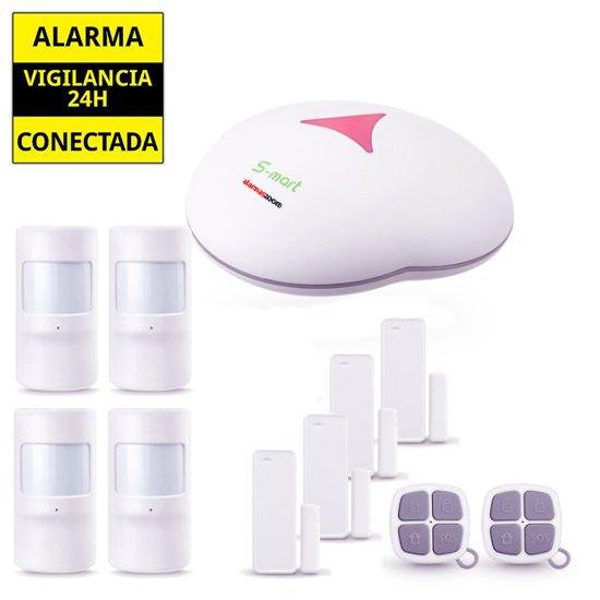 ALARMAS-ZOOM AZ0GS3 5 Alarma de casa con 4 detectores de movimiento y 3 de puertas