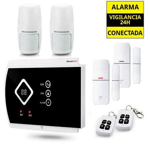 Kit Alarma Hogar AZ016 2 Detectores movimiento 2 Sensores apertura magneticos