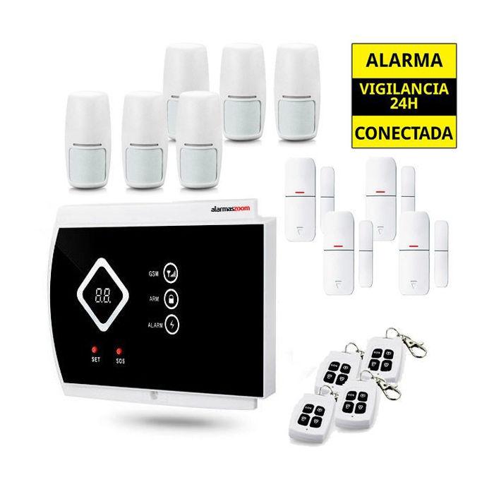 Kit Alarma Hogar AZ016 6 Detectores movimiento 4 Mandos remotos inalambricos
