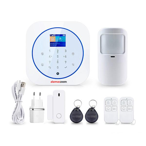 Alarma Hogar WiFi con GSM Tuya Smart AZ032 Blanca