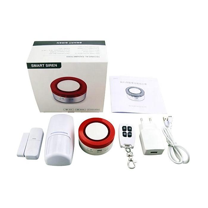Alarma WiFi para hogar Sin Cuotas Detector Movimiento Sensor Apertura H1