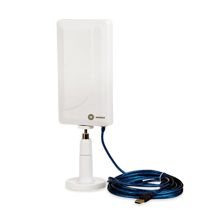 Antena WiFi USB Cable 10 metros Soporte plastico Wonect N89A 2