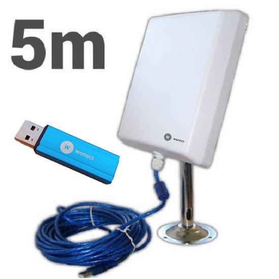 Wonect N4000A Antena WiFi USB 5 metros Amplificador PW915