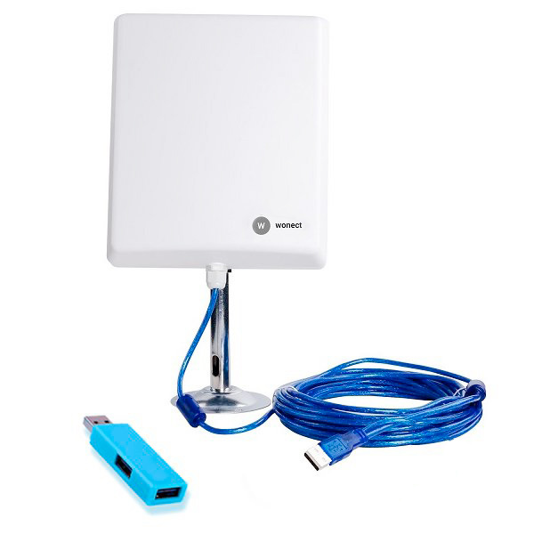 Wonect N4000A Antena Exterior WiFi USB 10 metros largo alcance con Amplificador PW916