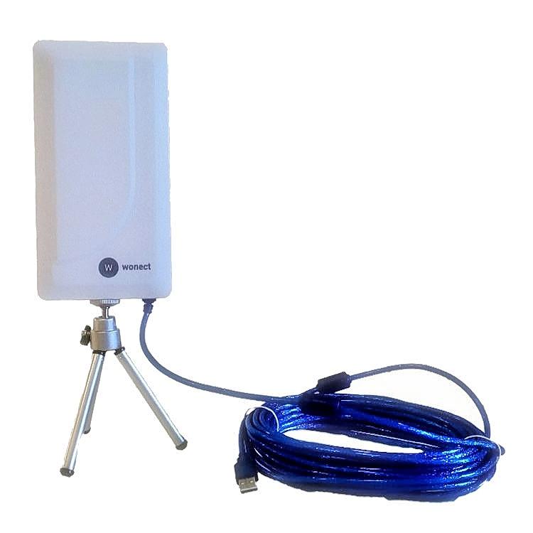 Antena WiFi USB Cable 10 metros Soporte reacondicionada Wonect N89A