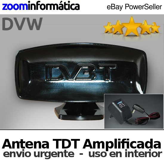 ANTENA TDT NEGRA INTERIOR ANTENA TDT NEGRA INTERIOR OTROS Antena TDT HD TV Amplificadora TELEVISION SENAL SOPORTE INTERIOR amplifica NEGRA