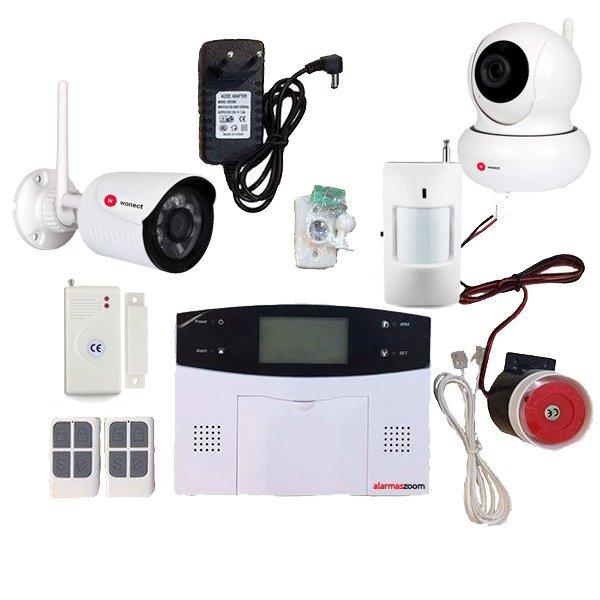 Alarma Hogar AZ023 GSM RJ11 Detectores con Camaras IP exterior interior
