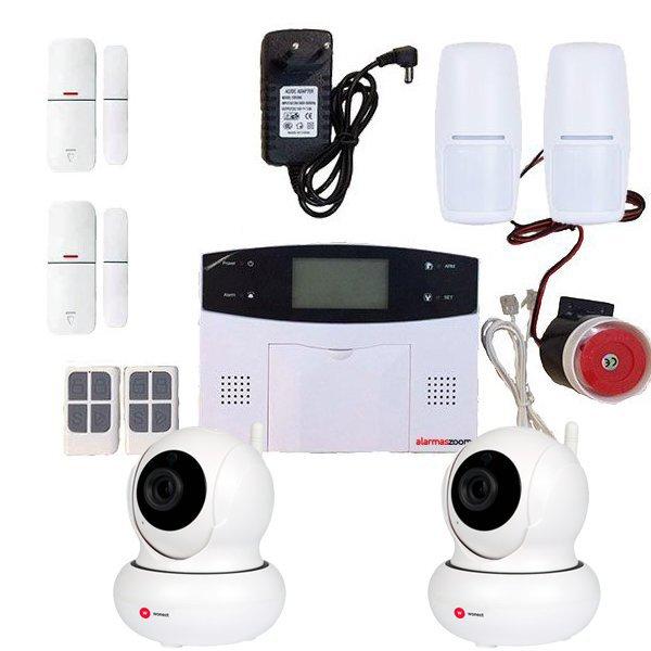 Alarma Hogar AZ023 GSM y Cable telefonico 2 PIR 2 Camaras de seguridad