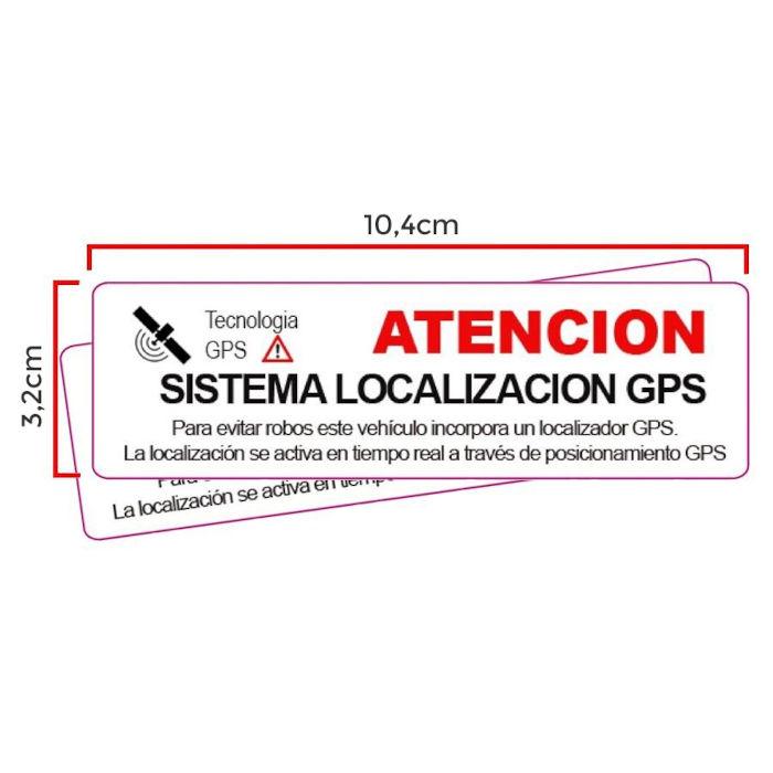 Pegatina Localizador GPS adhesiva interior Cristal Sistema Localizacion Mediana
