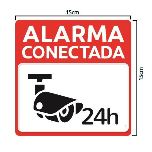 Pegatina Roja Alarma Conectada 24 horas