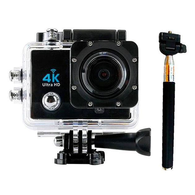Camara deportiva 4K Q3H WiFi 170 grados Carcasa sumergible Palo Selfie