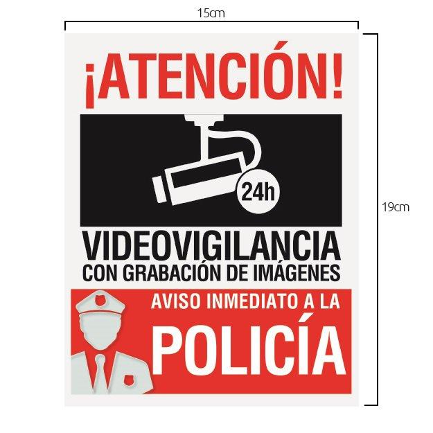 Alarmas-zoom Cartel rigido aviso policia