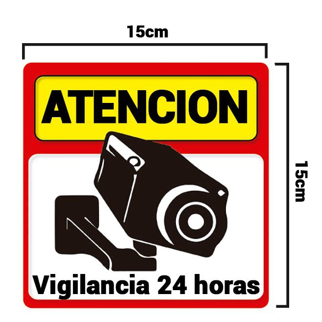 Alarmas-zoom pack 3 cartel rigido atencion vigilancia 24 horas