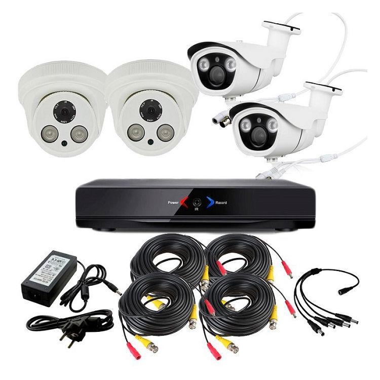 CCTV Grabador DVR AHDK035 2 Camaras Interior Full HD 2 Exterior HD 720p