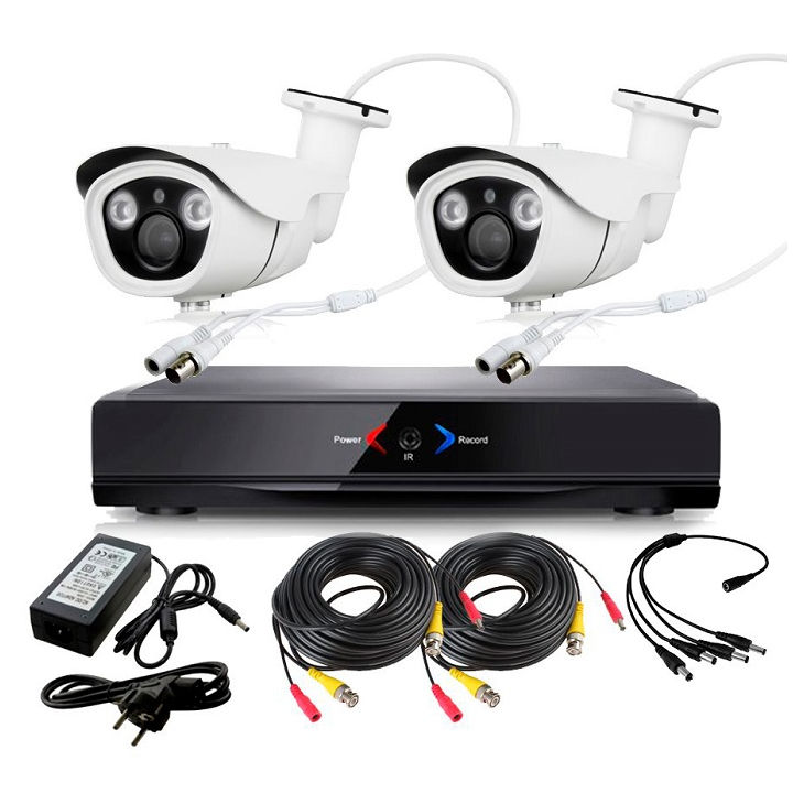 CCTV Grabador DVR AHDK001 2 Camaras exterior Full HD