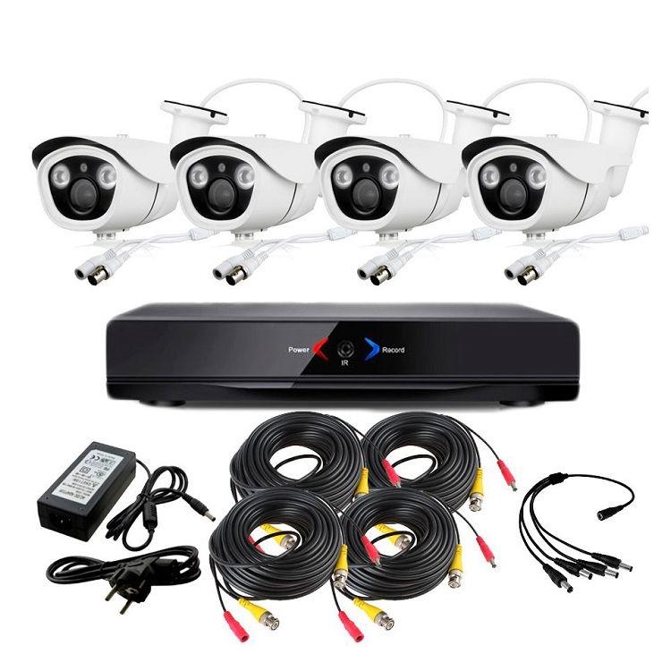 CCTV Grabador DVR AHDK002 4 Camaras exterior Full HD