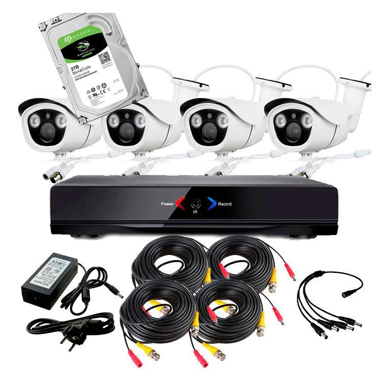 WONECT DVR CCTV 4 camaras exterior HD