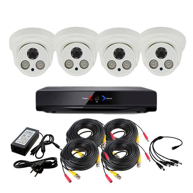 CCTV Grabador DVR AHDK034 4 Camaras Interior Full HD