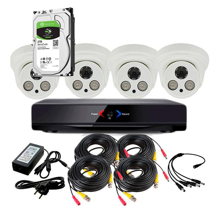CCTV Grabador DVR AHDK034 4 Camaras Interior Full HD Disco Duro 1Tb