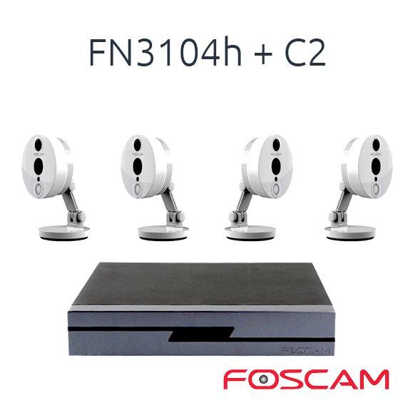 FOSCAM 4 FOSCAM C2 CON 1 NVR FN3104H