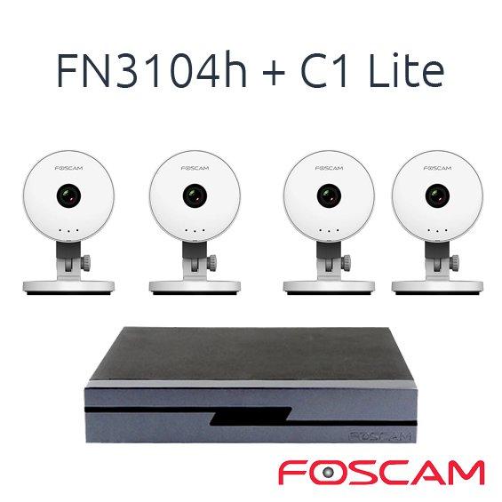 FOSCAM 4 C1 LITE CON 1 NVR FN3104H