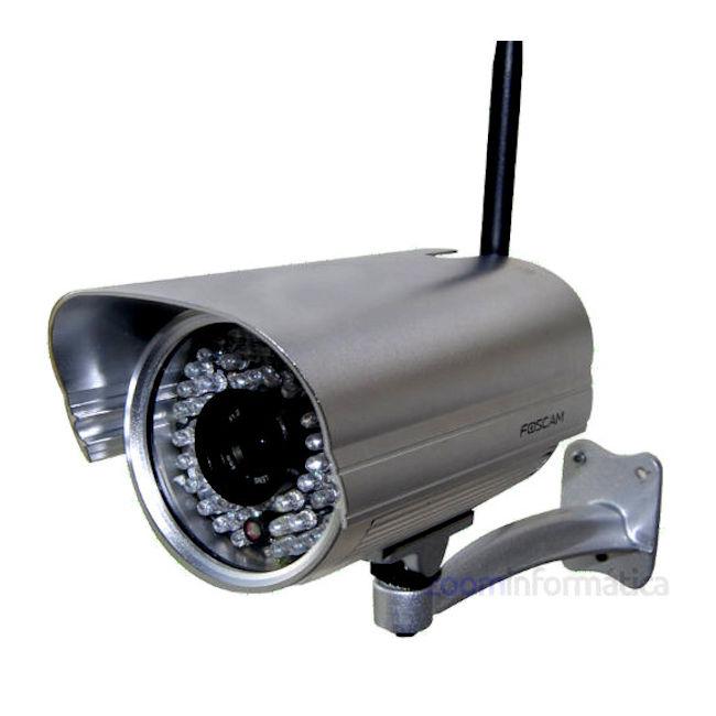 Foscam FI9805W Camara de vigilancia exterior IP WiFi HD Filtro IRCUT 4mm Reacondicionada